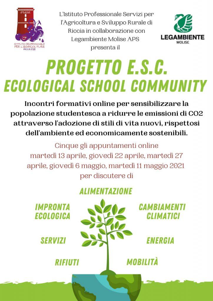 """Progetto E.S.C. """"Ecological School Community"""""""