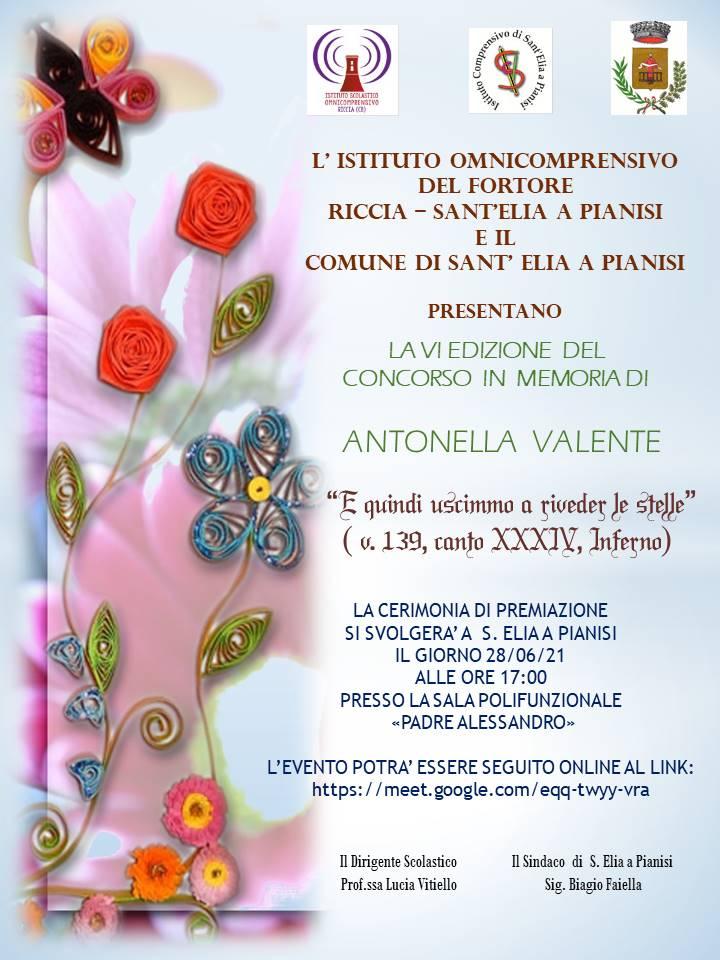 Concorso Antonella Valente - premiazione